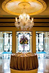 Bel Air Floral designs - wedding banquet room flowers
