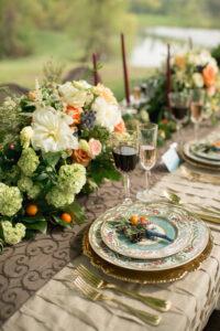 Maryland floral design studio - table flower arrangements