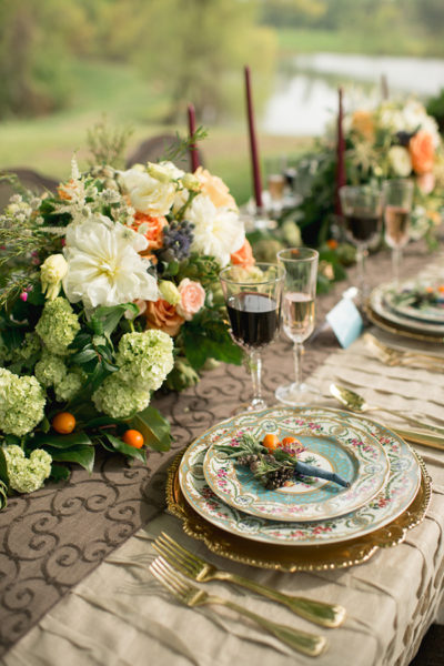 Maryland floral design studio - table flower arrangements